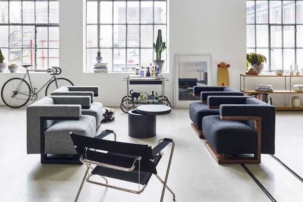 Ensemble de meubles de salon Tecta Bauhaus chez Studio19